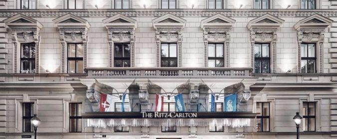 Façade du Ritz Carlton à Vienne