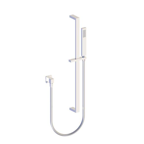 Photo du mitigeur de douche, flexible et douchette sur rail Myriad