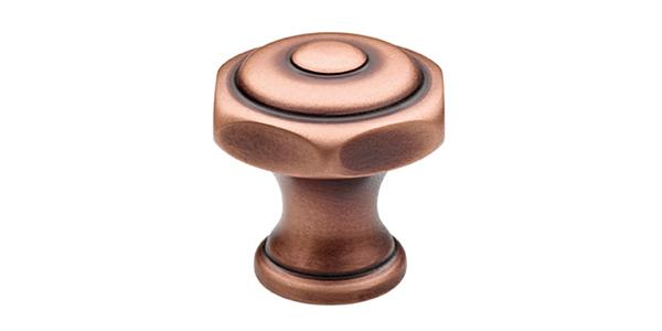 (image) téton en laiton avec finition vieux cuivre mat