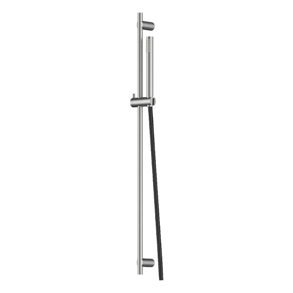 Rendu réaliste un rail de douche et douchette Equinox316 maison française de robinetterie Horus