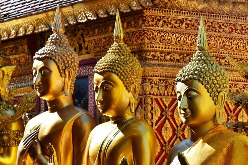 (image) statues du Palais Royal à Bangkok