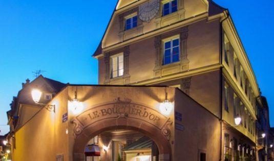 (image) Façade de l'hôtel Bouclier d'Or à Strasbourg