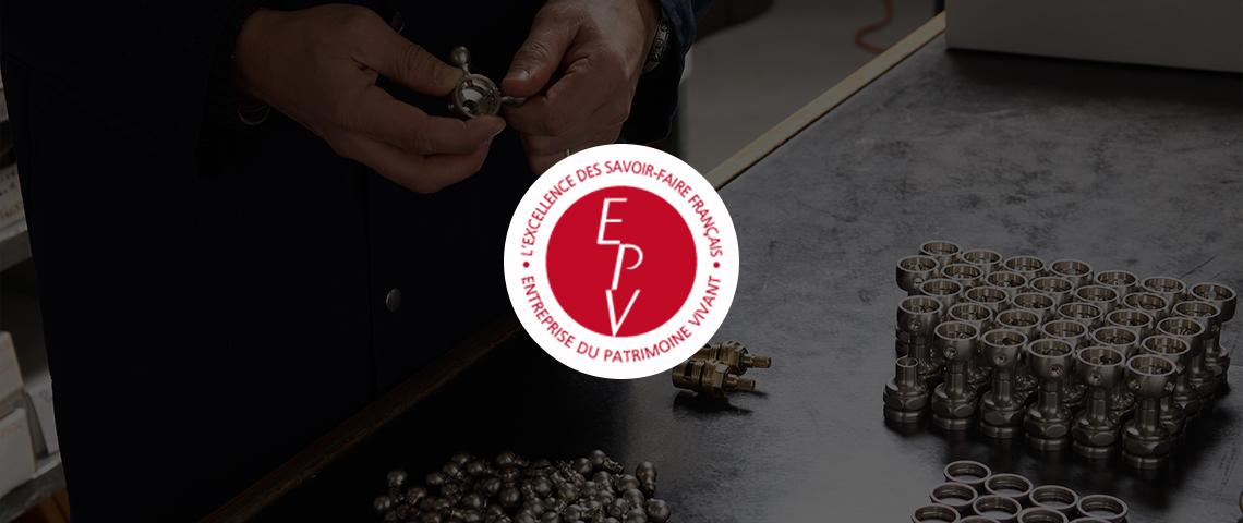 (image) logo EPV avec pour fond une photo de l'atelier Horus